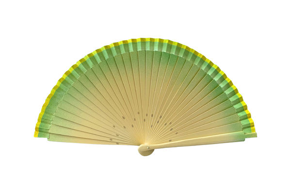Vintage Inspired Honeydew Melon Hand Fan